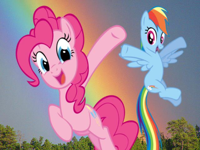 rainbow dash pinkie foot-#33
