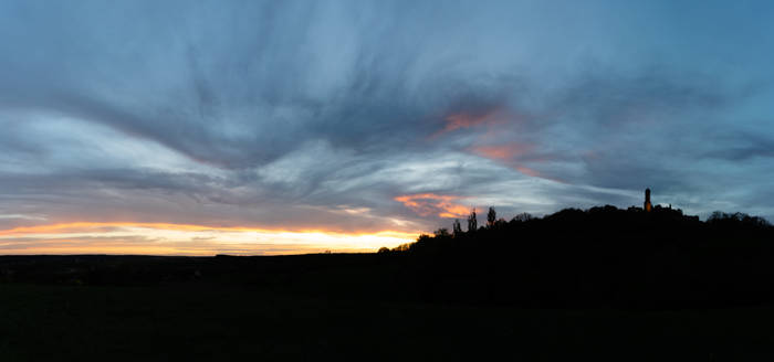 Panorama of the Night Sky and the Altenburg