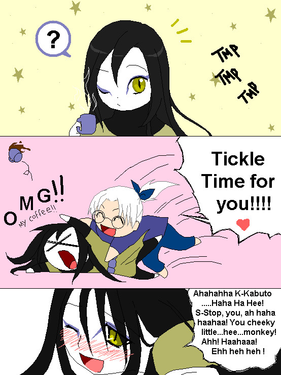 Tickle time for Orochimaru by sheepish-Bunbert