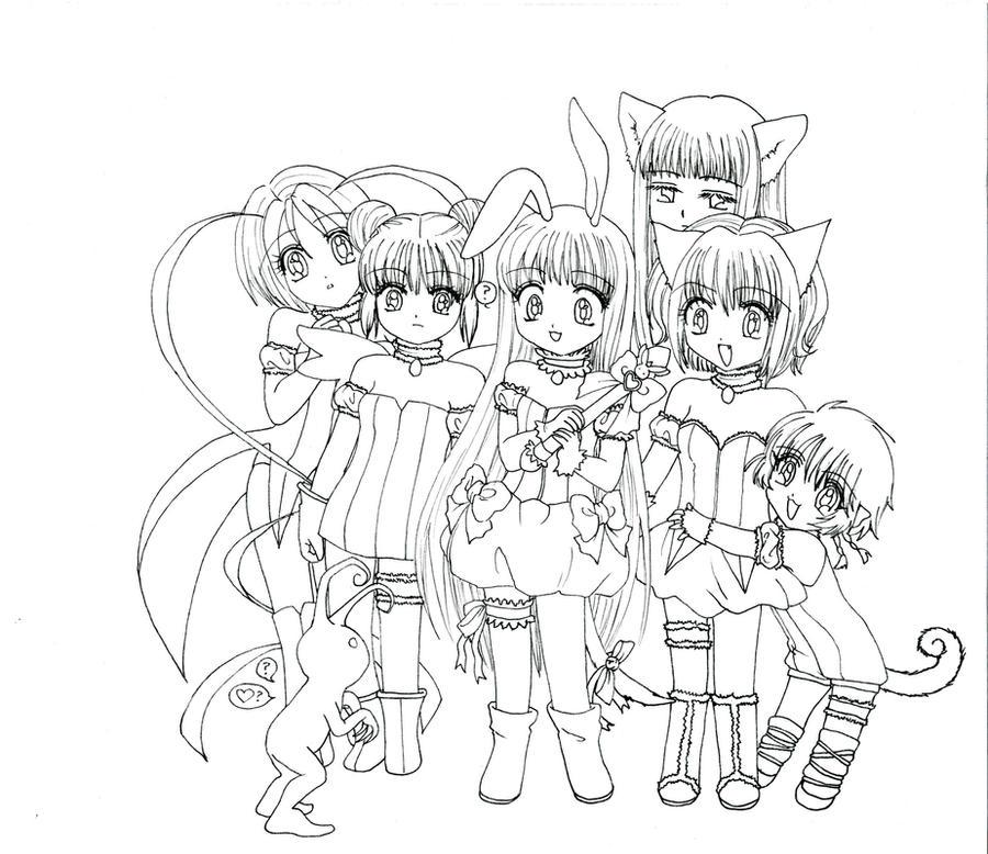 tokyo mew ichigo coloring pages - photo#27