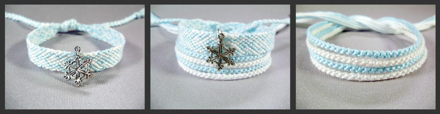 Snowflake Friendship Bracelet Set by QuietMischief