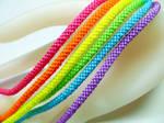 Neon Rainbow Kumihimo Bracelets