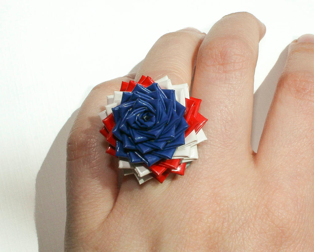 American Flag Duct Tape Rose Ring  2014 By Quietmischief. Rice Rings. Replica Wedding Rings. Golding Rings. High End Mens Wedding Rings. Class Engagement Rings. Heartagram Wedding Rings. Heart Gallery Engagement Rings. Rayna James Wedding Rings