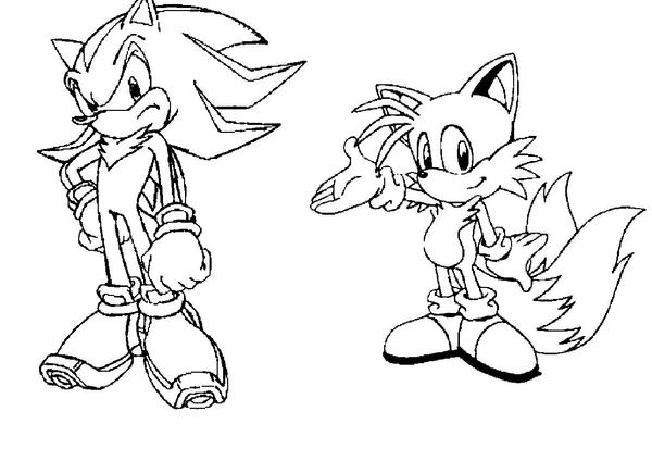 Shadow and Tails 1 by sonicfan126 on DeviantArt