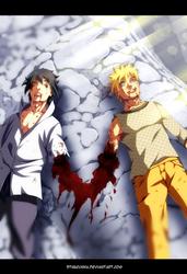 Naruto 698 - Naruto and Sasuke friends by StingCunha
