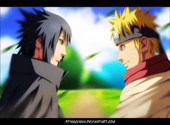 Naruto 699 - Sasuke is back to Konoha by StingCunha