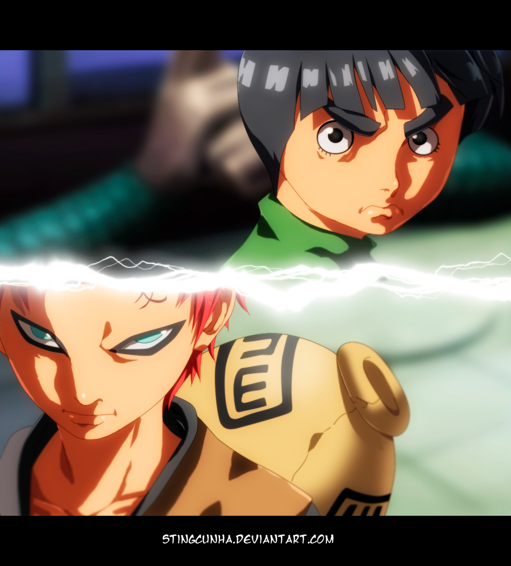Rock Lee vs Gaara by StingCunha on DeviantArt Gaara And Rock Lee Vs Kimimaro