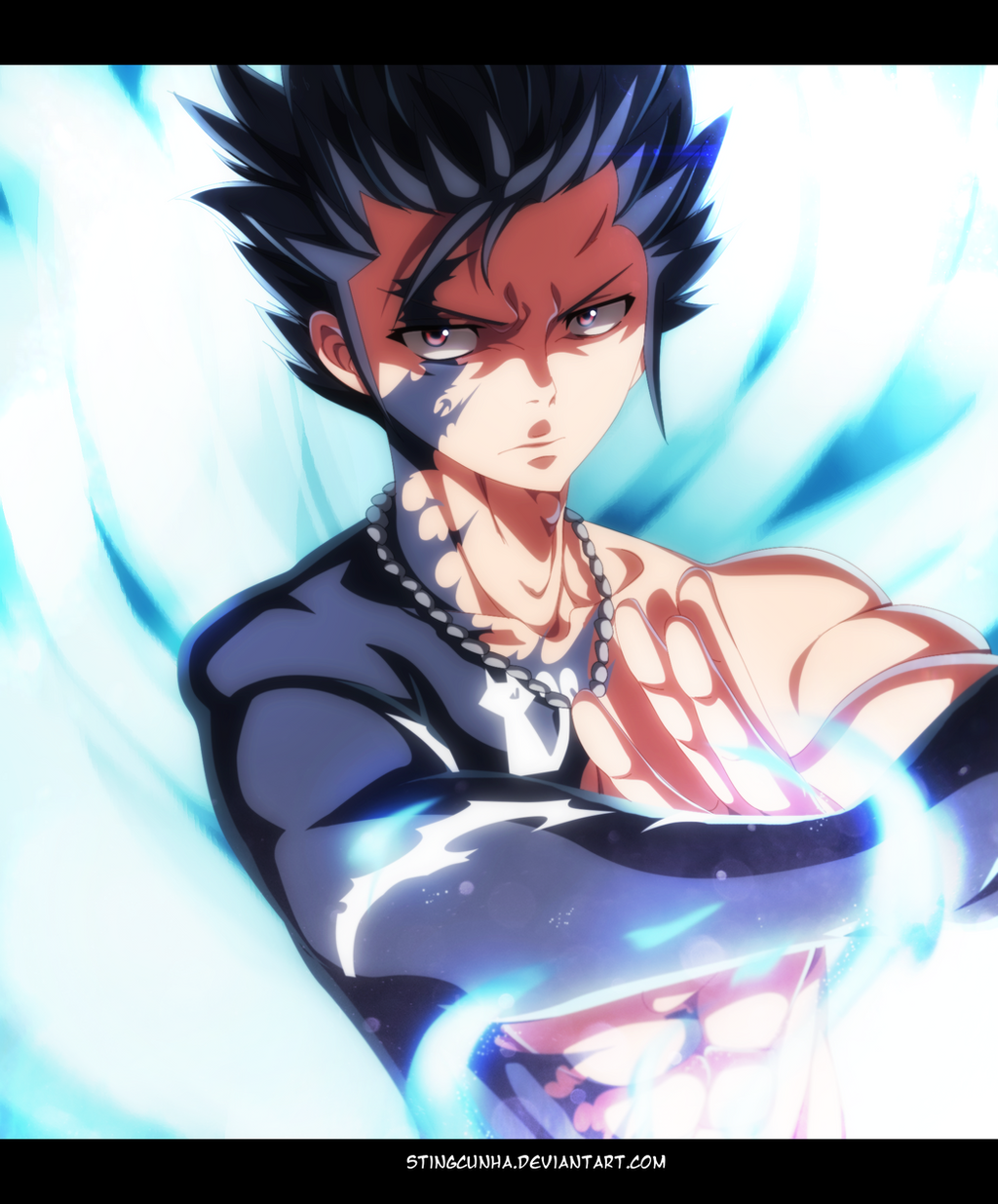 Fairy tail 446 gray fullbuster demon slayer by for Demon slayer