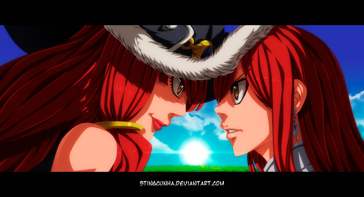 Fairy Tail 513 - Eileen and Erza by StingCunha
