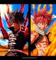 Fairy Tail 527 - Zeref vs. Natsu by StingCunha