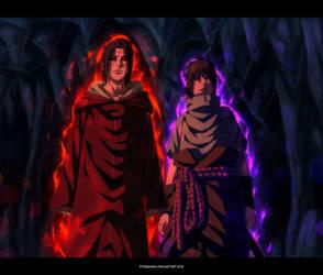 Sasuke and Itachi - Uchiha Brothers by StingCunha