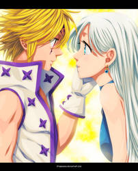 I will always be with you - Meliodas and Elizabeth by StingCunha