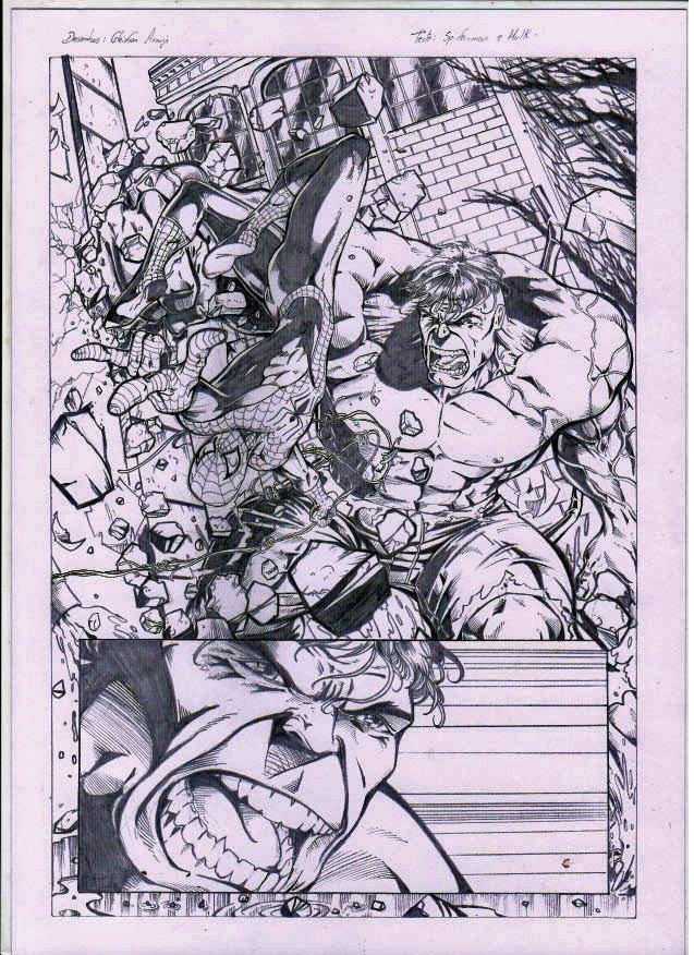 Hulk e Spiderman by gleidsonaraujo