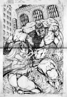 Hulk versus Storm by gleidsonaraujo