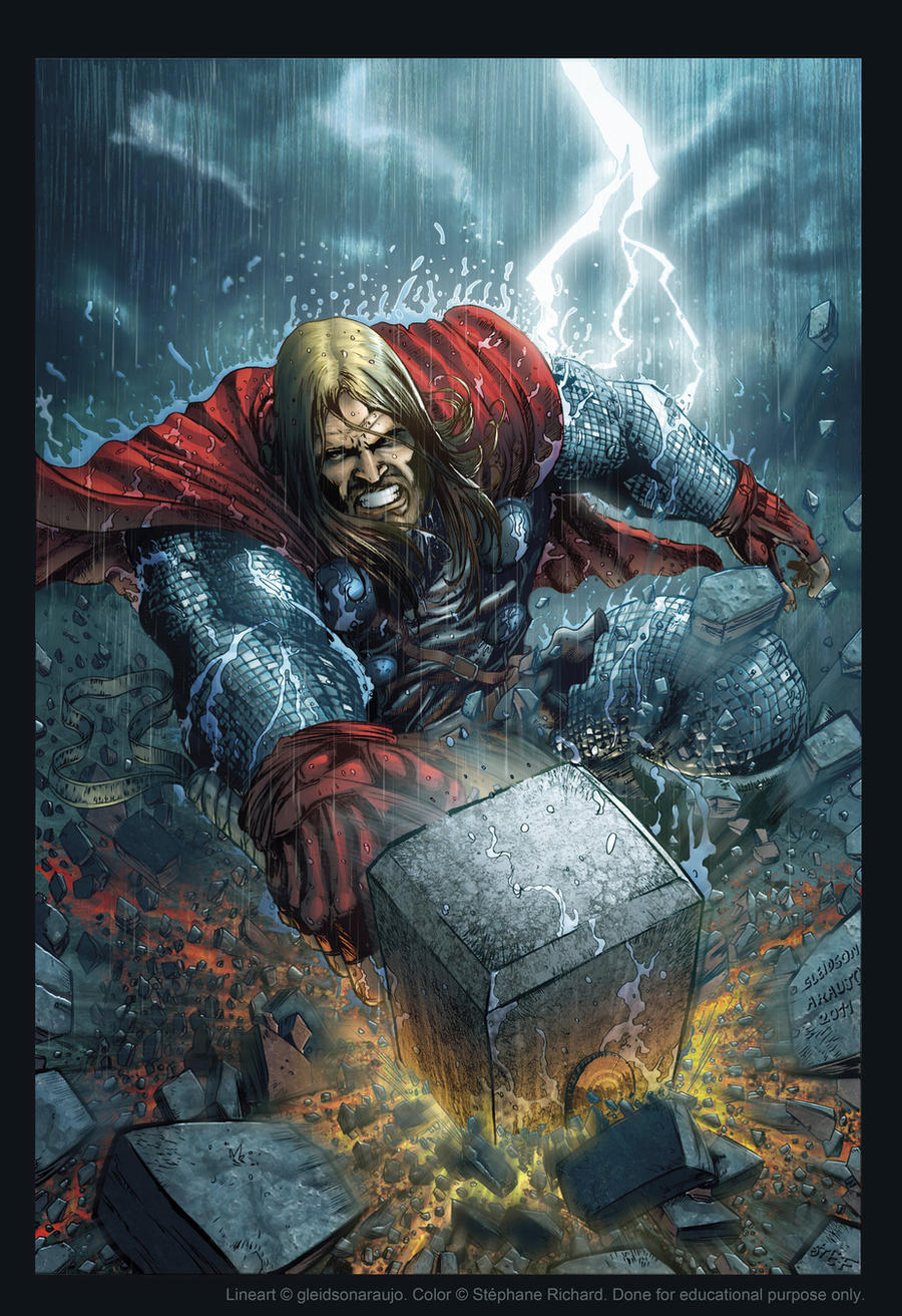 Thor color by gleidsonaraujo