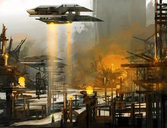 Sci Fi Sunlanding by TeslaRock
