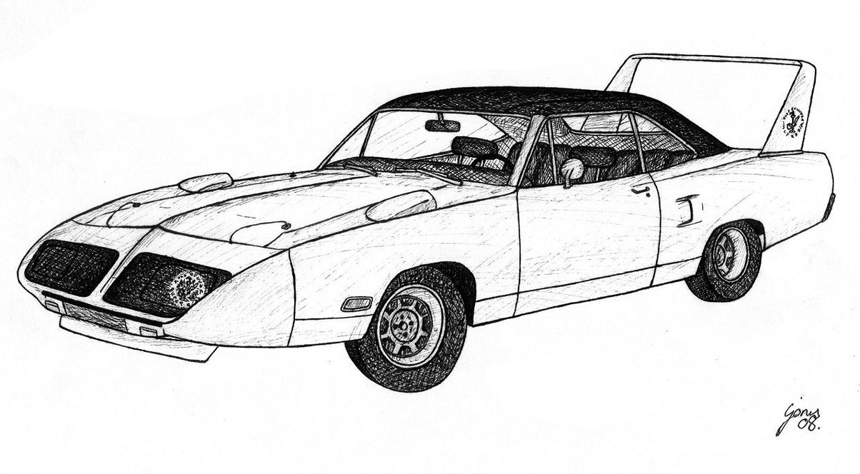 plymouth superbird coloring pages sketch coloring page
