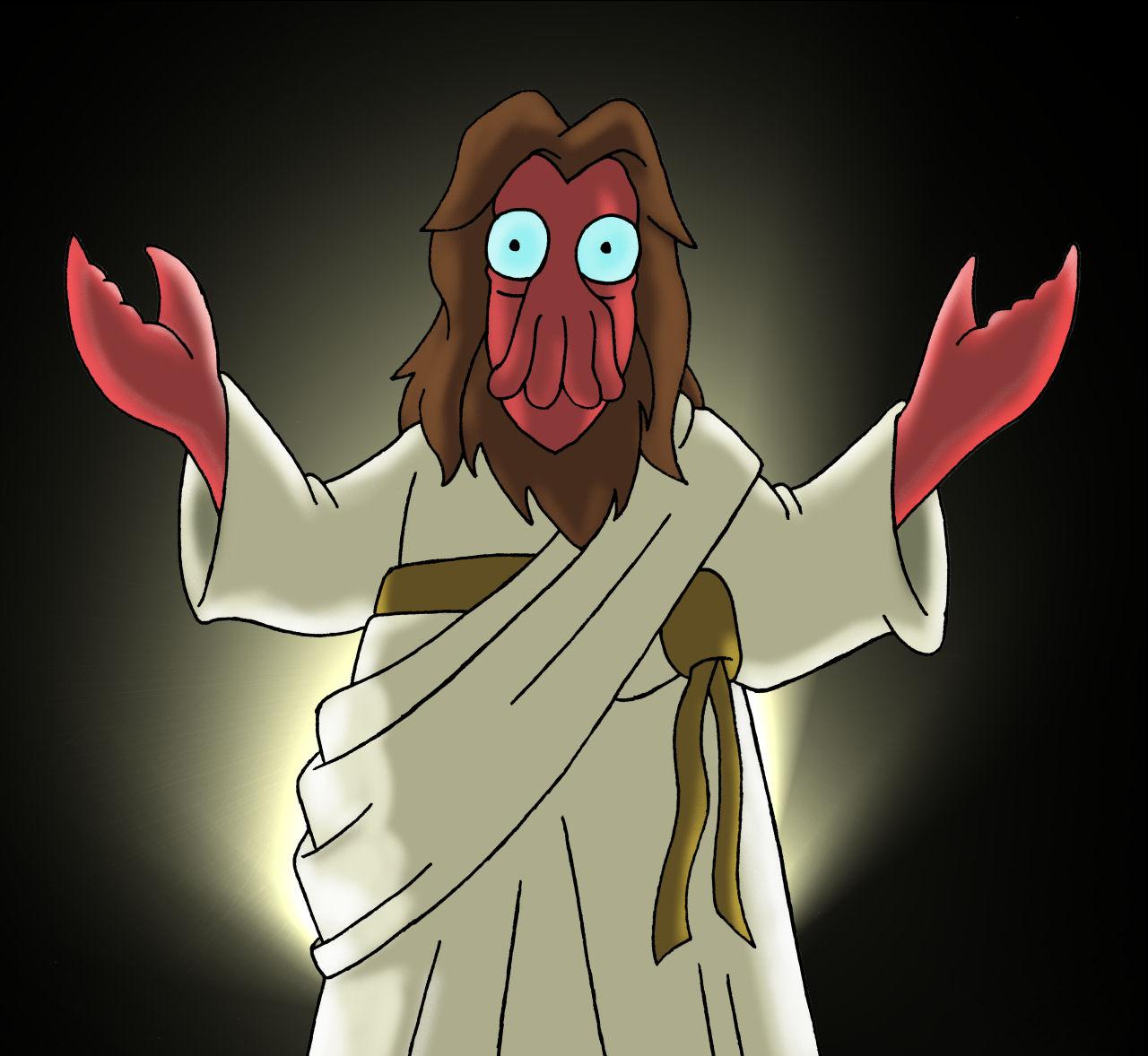 zoidberg jesus by gjones1 on deviantart