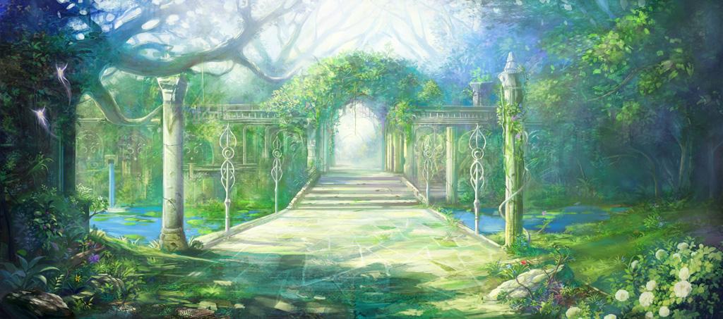 Аллея            Garden_by_phoenix_feng