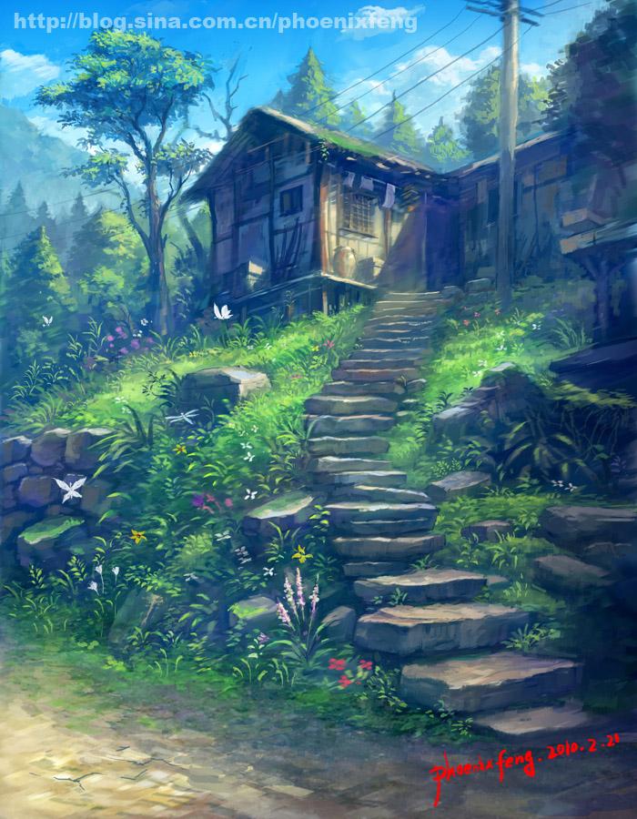 Village in memory by phoenix-feng