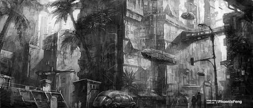 High technology city selone 02 by phoenix-feng