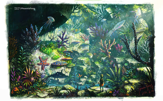 land  coral reef
