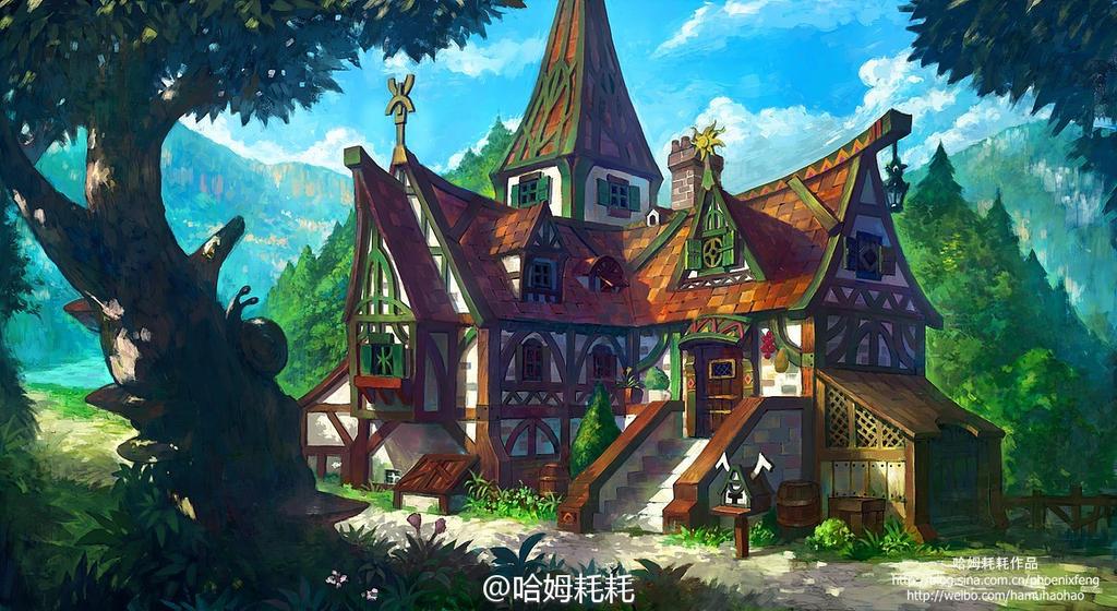 Fantasy House Design By Phoenix Feng On Deviantart