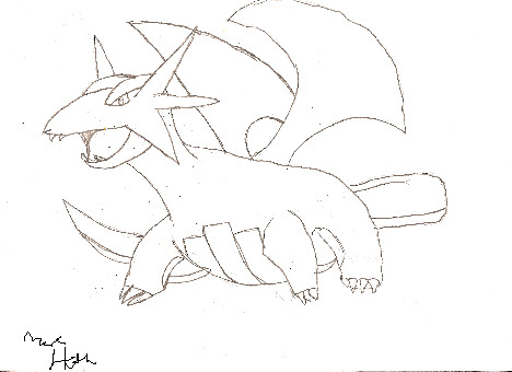 Pokemon salamence coloring pages coloring pages for Flygon coloring pages