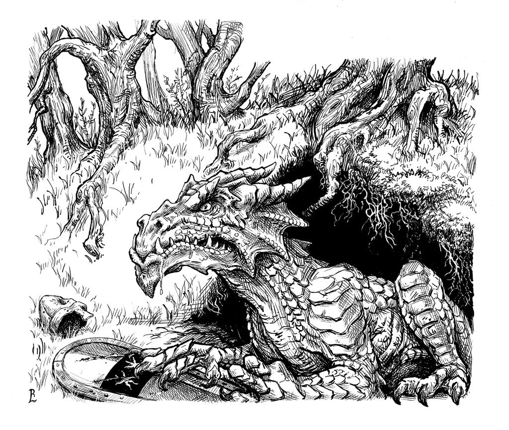 Drake Killer Truth , Pen and Ink by Luschek