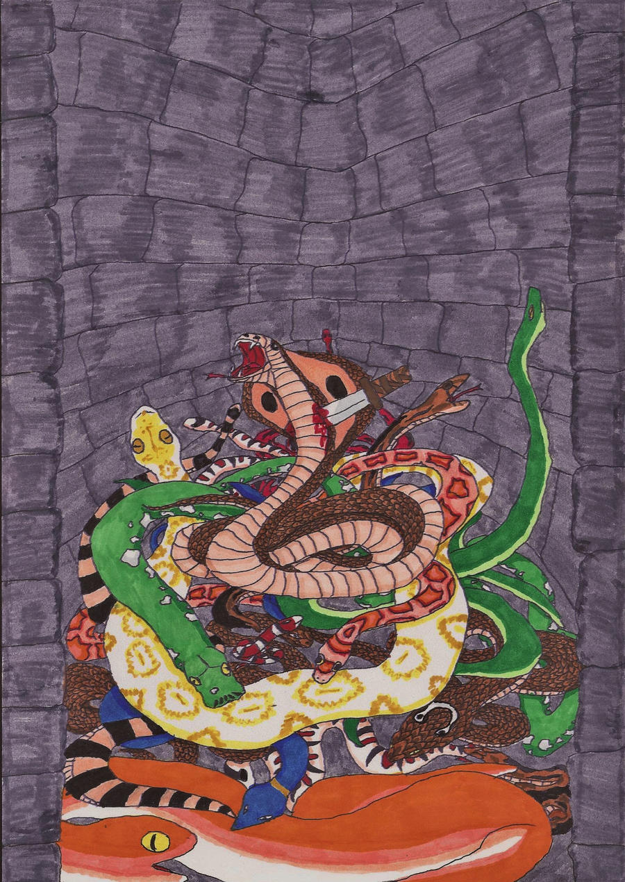 pit of snakes by pookelucy on deviantart
