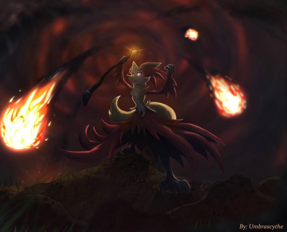 Delphox destroys battlefield