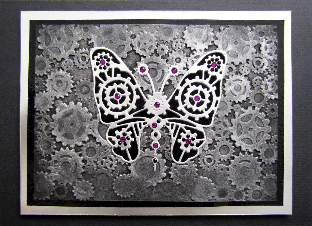 GothicSteampunk birthday card with cog butterfly by – Steampunk Birthday Card