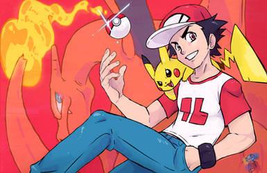 Pokemon Trainer Red 18+ by WaniOWani