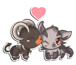 Houndoom and Mightyena :kiriprize: