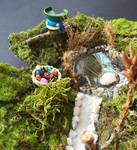 Blue is hunting easter eggs by SprinklesGirl