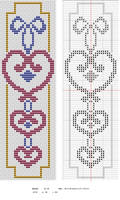Hearts Bookmark by NevaSirenda