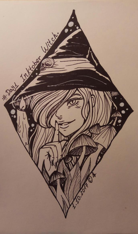 Inktober 2017 Day 1 - Witch by xXira-eshvoXx