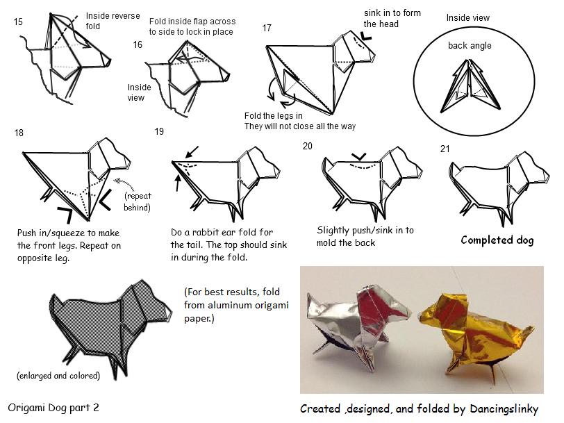 origami dog practice part 2 continued by dancingslinky on deviantart rh deviantart com Origami Star Origami Dragon Diagram