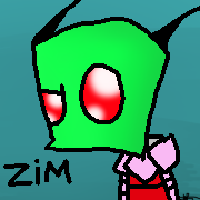 I drew Zim at school by The-Phantom-Invader