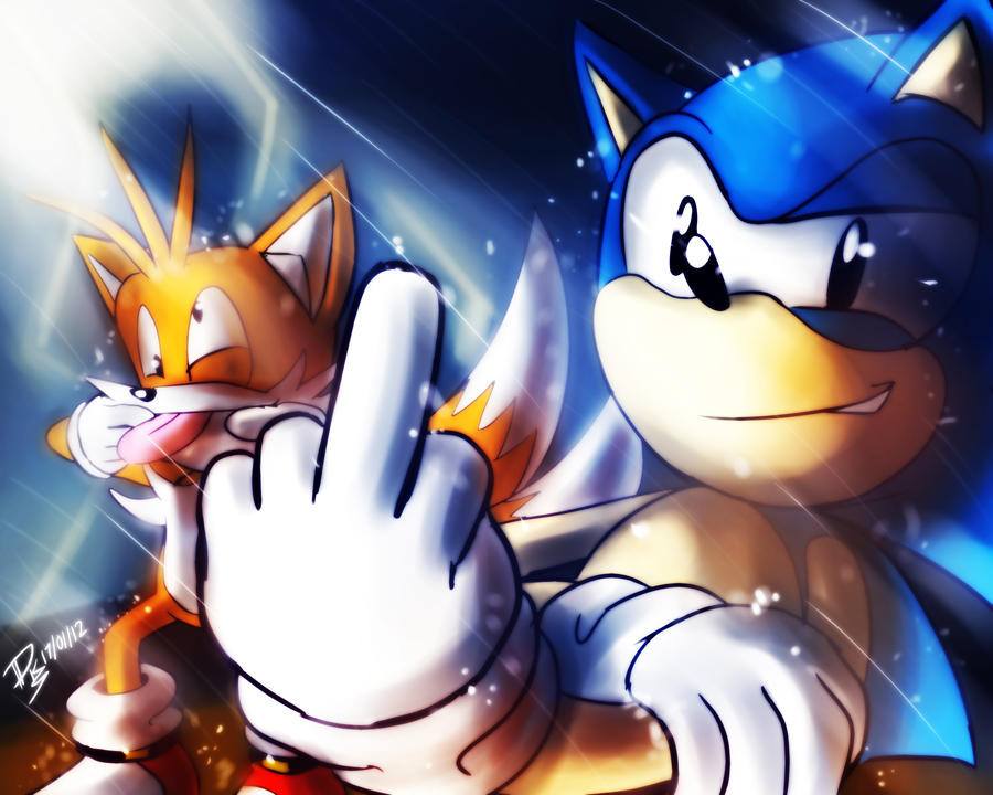 One Hour Sonic 006 Sonic And Tails By Elsonwong On Deviantart