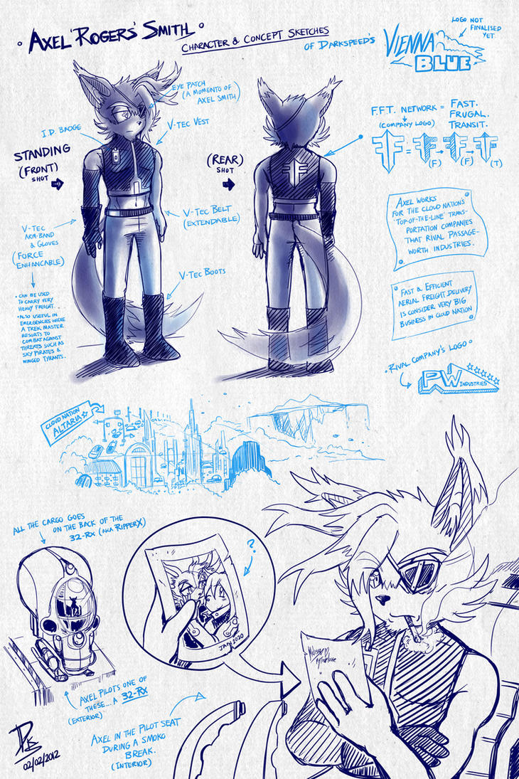 Vienna Blue Concept Sketches 01 by ElsonWong