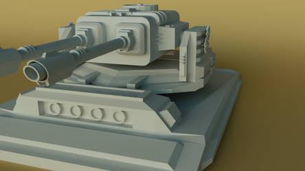 Futuristic Turret 1 by Perlin18