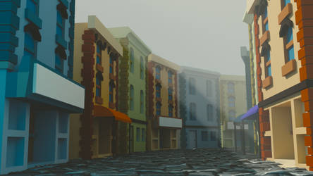 Low poly city scene by Perlin18