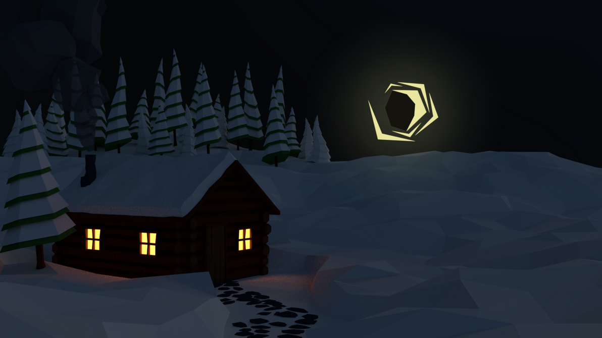 Low Poly Winter Cabin by Perlin18