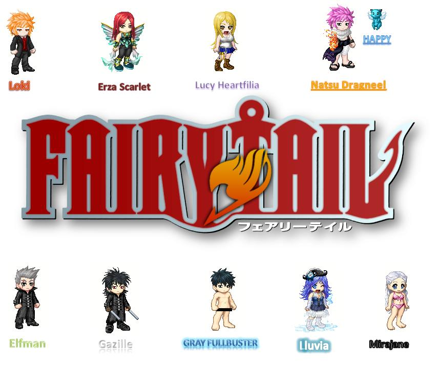 Fairy Tail Characters By Elementsthecat