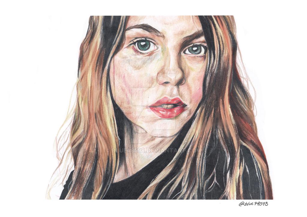 Semirealistic Portrait by Blue48598