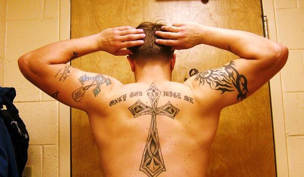tattoo back shot