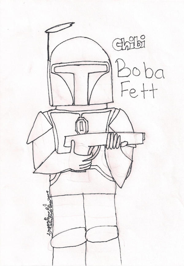 star wars boba fett coloring pages - boba fett coloring page by yugamizuno on deviantart