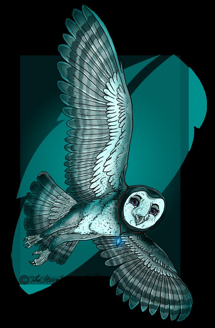Fursona Barn Owl Form by TheStormUnleashed
