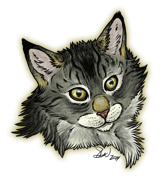 Cat Portrait by TheStormUnleashed